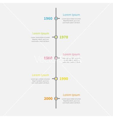 Timeline Vertical Infographic With Color Text Vector  Graphics