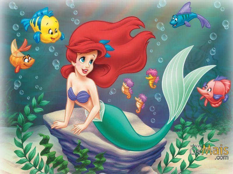 Papel De Parede A Pequena Sereia Princesas Disney