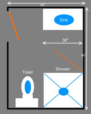 Three Quarters 3 4 Bathroom Plans Bathroom Layout Plans Small Bathroom Floor Plans Bathroom Plans