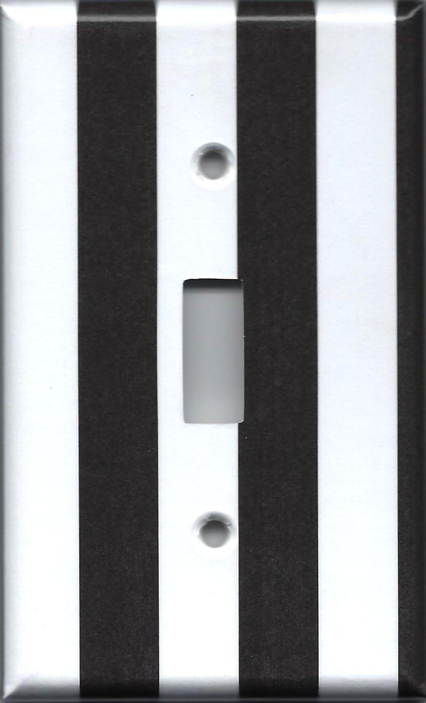 Black Wall Socket Covers Delectable Black And White Stripes Light Switch Plates And Wall Outlet Covers Design Ideas