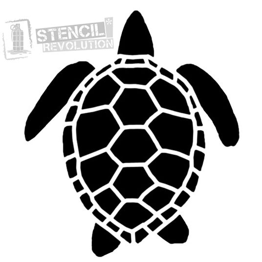 photo regarding Turtle Templates Printable named Sea Turtle Stencil Nautical stencils Animal stencil