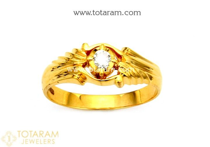 784fa1736a3d8 Mens Diamond Ring in 22K Gold | Places to visit | Gold rings, Rings ...