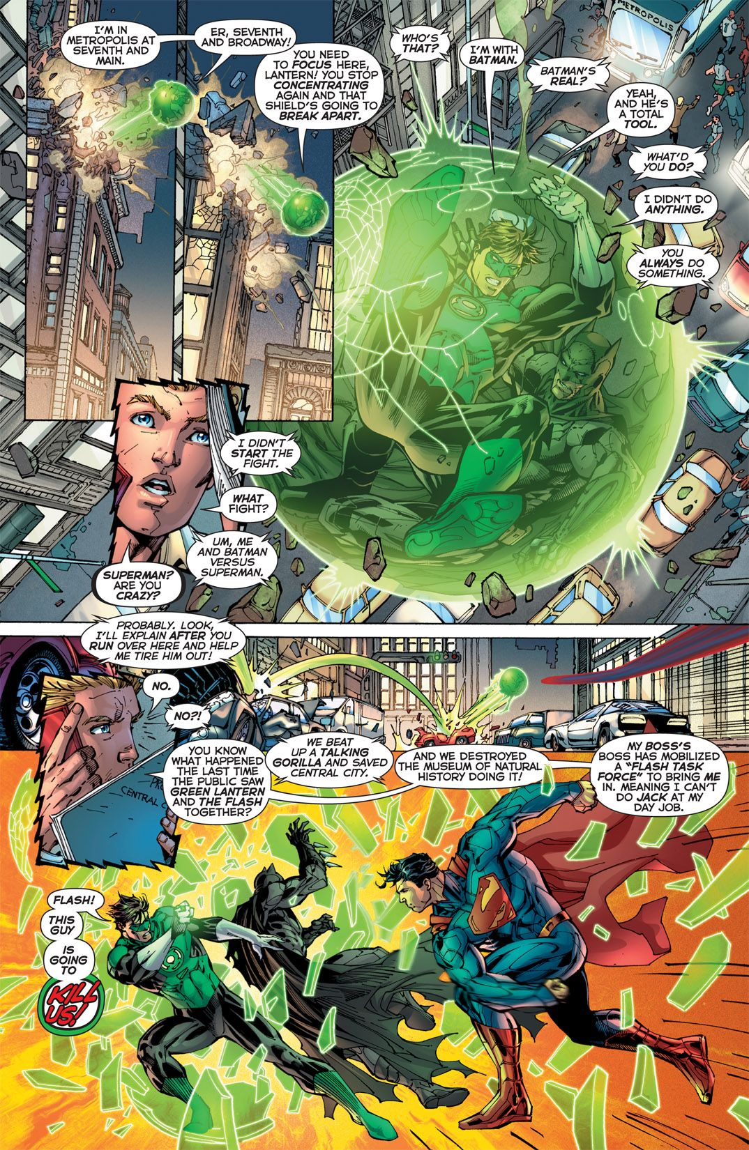 Justice League #2 by Jim Lee | Panels and a splash of color ...