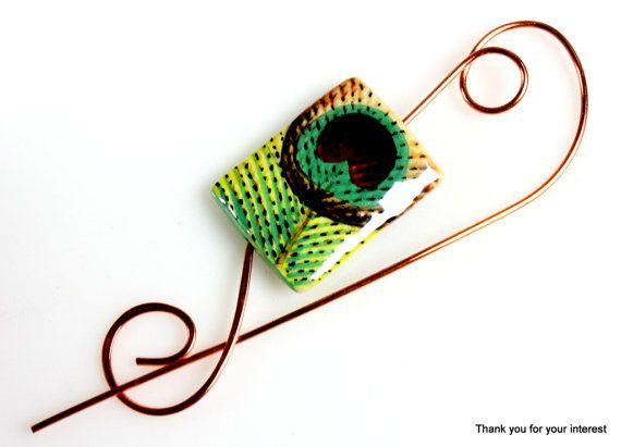 Copper Wire Shawl Pin Scarf Pin Brooch Copper by ShawlPinHeaven