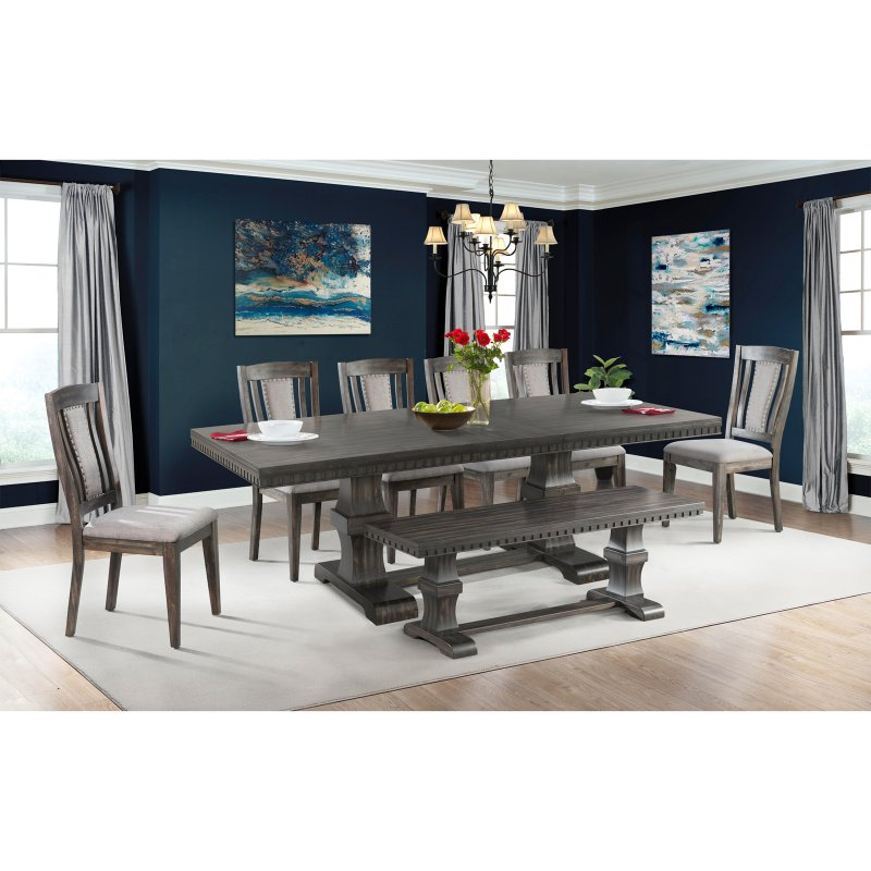 Picket House Furnishings Steele 8 Piece Extension Dining