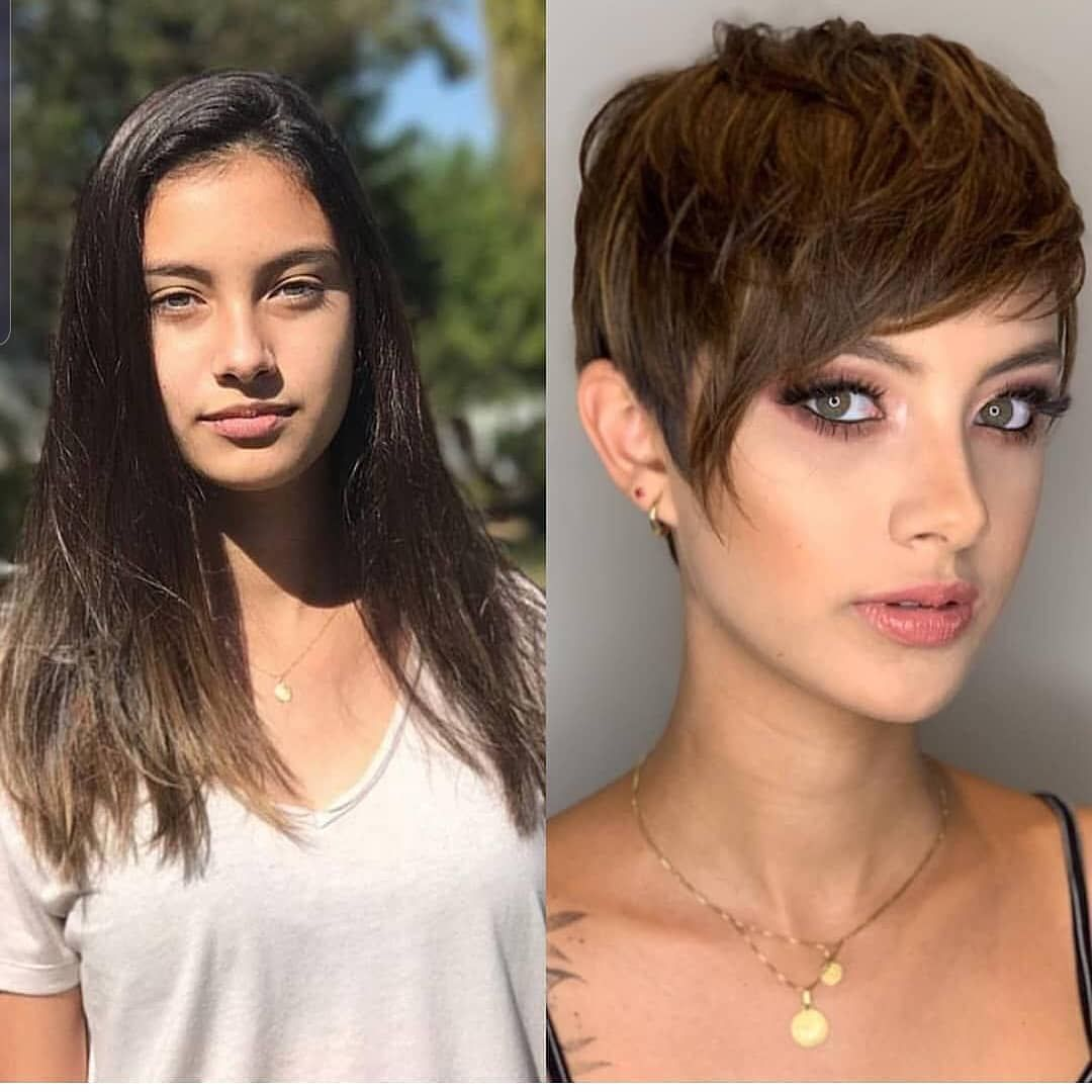 10 Stylish Pixie Haircuts For Women New Short Pixie Hairstyle 2020 2021 In 2020 Long To Short Hair Thick Hair Styles Short Hair Style Photos