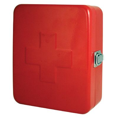 Kikkerland First Aid Box Color: Red