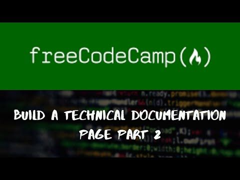 Build A Technical Documentation Page Part 2 | Responsive Web Design Projects | FreeCodeCamp