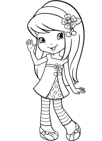 free printables strawberries | free printable coloring page ... | 480x349