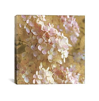 Gilded Hydrangea I by All That Glitters Canvas Print