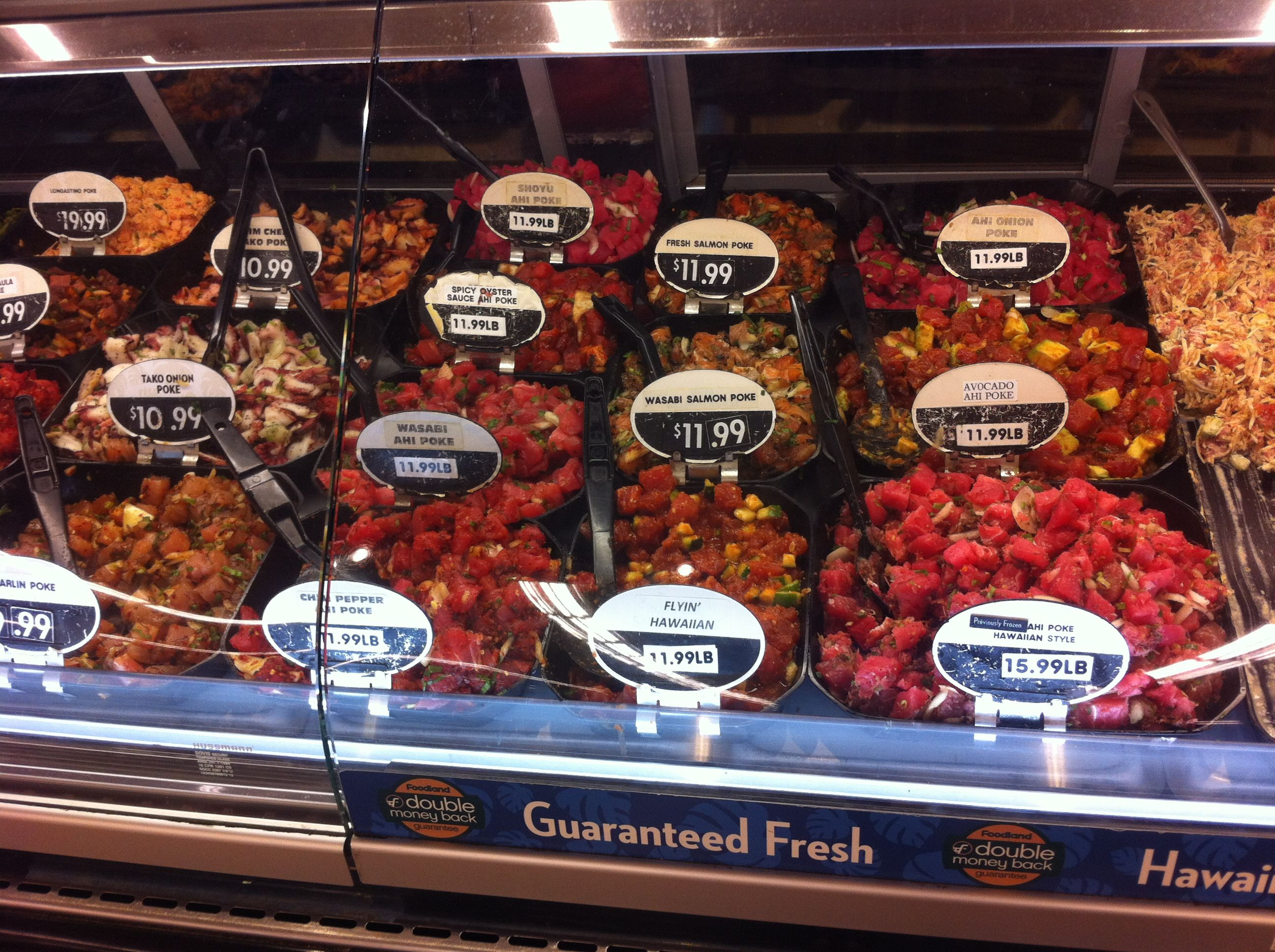 Foodland has good poke on Kaua'i. Sign up for a Maika'i card for better prices!