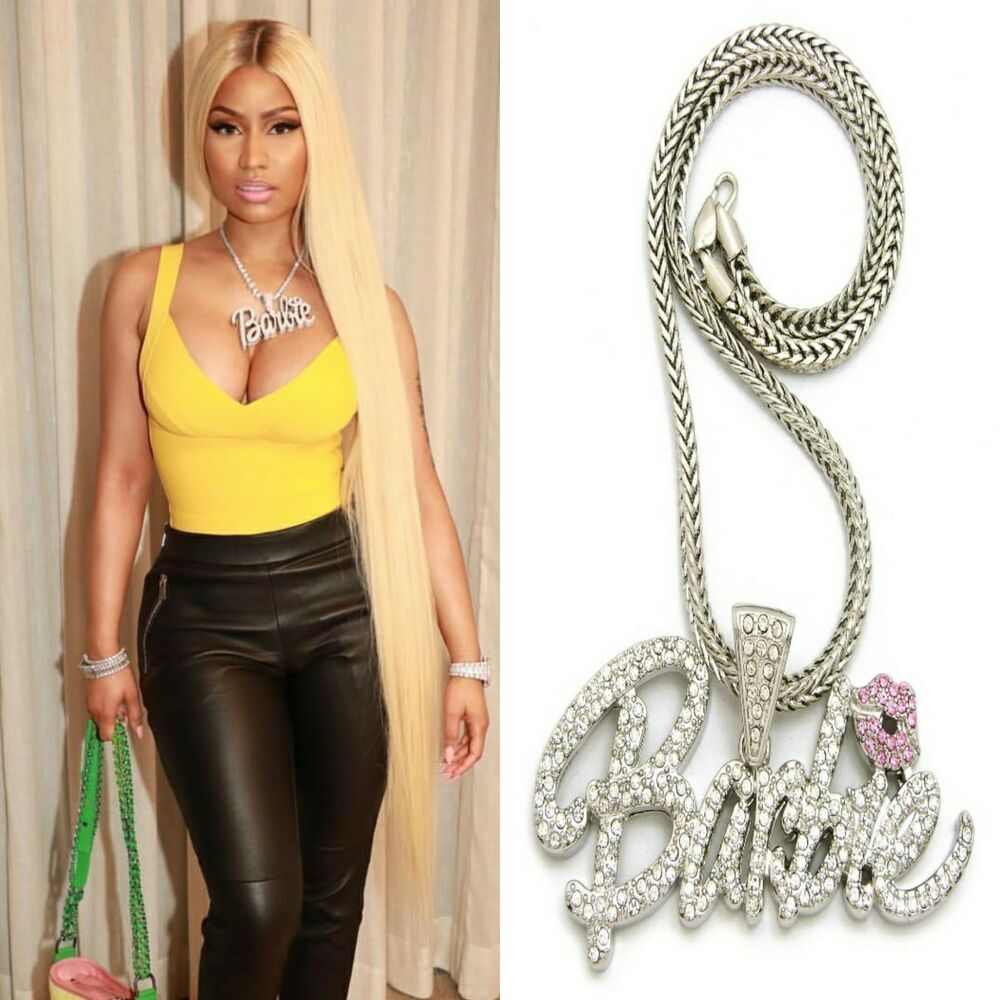save up to 80% new york quality products ICED OUT NICKI MINAJ BARBIE QUEEN PENDANT CHAIN NECKLACE HIP ...