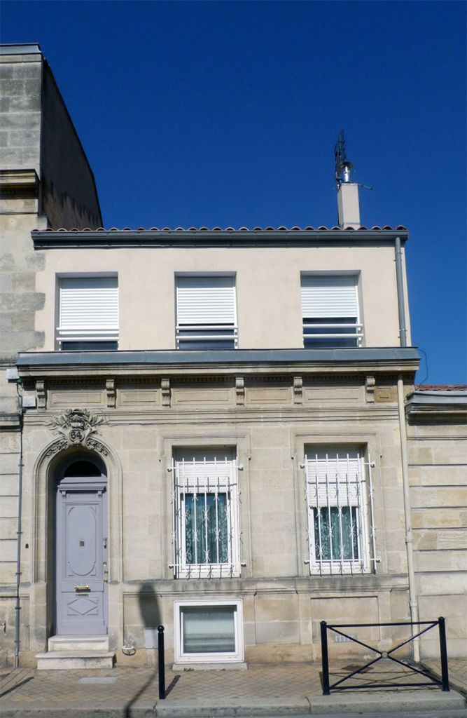 Bordeaux, Façade du0027échoppe bordelaise surélevé en ossature bois Le - prix extension maison 30m2