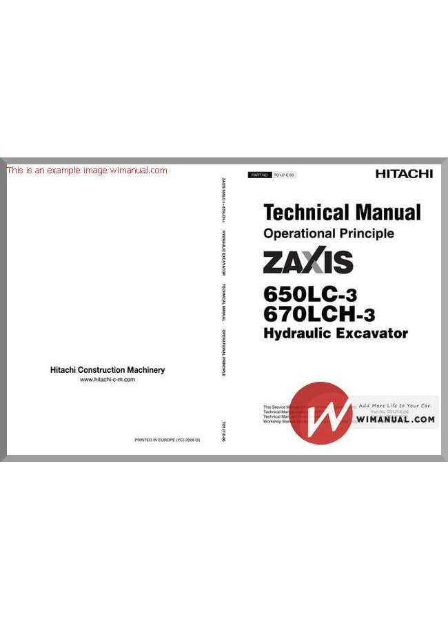 Hitachi Zaxis 650lc 670lch 3 Technical Manual Operational