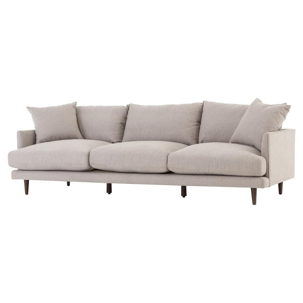 Asta Modern Scandinavian Beige Cushion Back Sofa 98 Beige