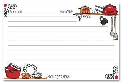 recipe stationery kitchen shelves recipe cards stationery