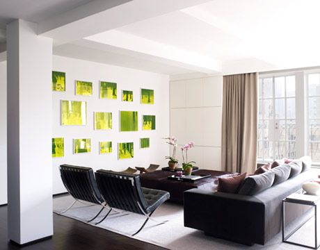 A Chic New York Oasis  Modern Artwork White Living Rooms And Delectable Living Room Modern Interior Design Review