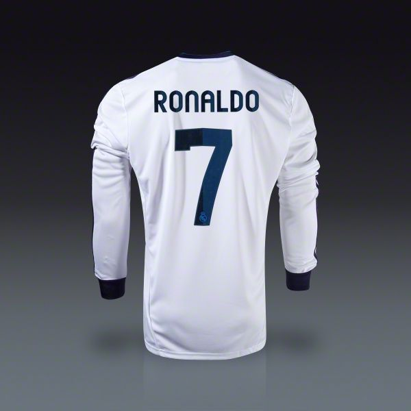 reputable site b7355 d8def adidas Cristiano Ronaldo Real Madrid Long Sleeve Home Jersey ...