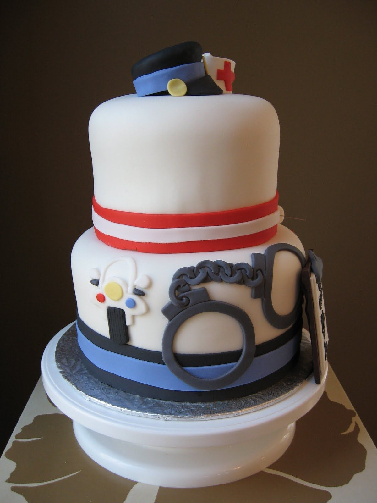 White layer w/ black ribbon thin blue lineadd old badge