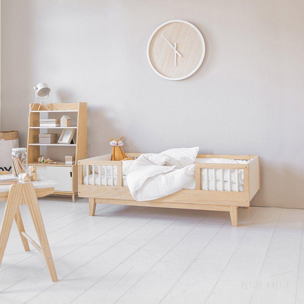 Nouveau Lit Enfant 2 Ans Bois Blanc 70x140cm Cerise En 2020