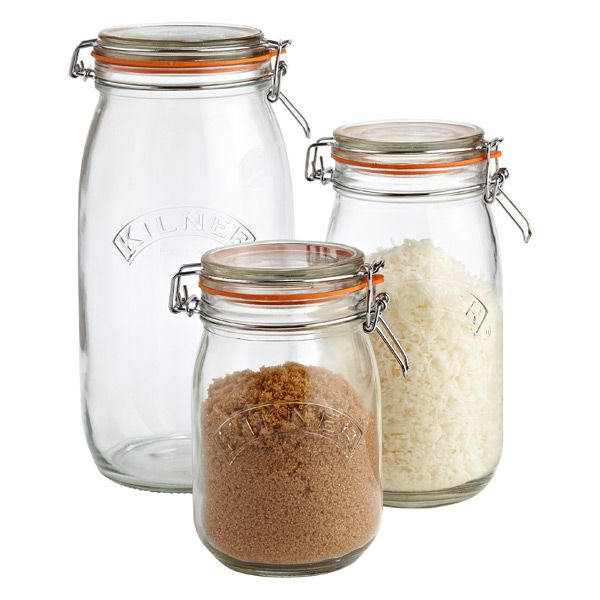 Kilner Round Hermetic Glass Jars  Canning Jars Jars And By Captivating Glass Kitchen Containers Decorating Design