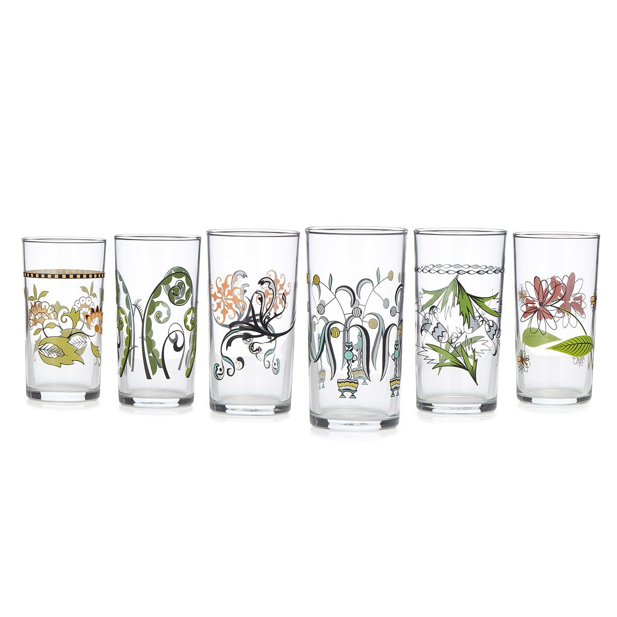 FLORAL WINE GLASSES - SET OF 6 | Italian glassware | UncommonGoods