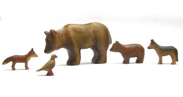Buntspechte Figure Wooden Animals From The Puppenstube Kid Stuff