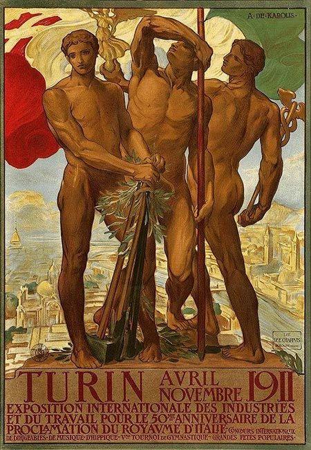 """Expo Int'l Turin 1911"" by Adolfo De Carolis - 1911"