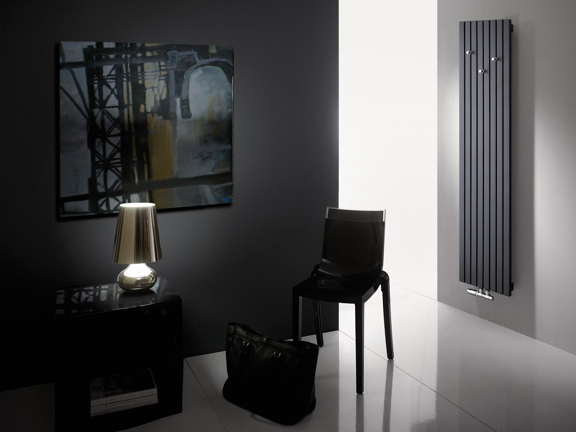 Designer Heizung Wohnzimmer Radiator Santos Classy Black Color With Some White Elements Will