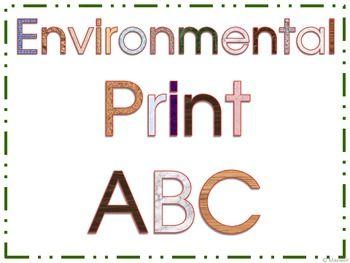 Environmental print abc booklet also best images literacy rh pinterest