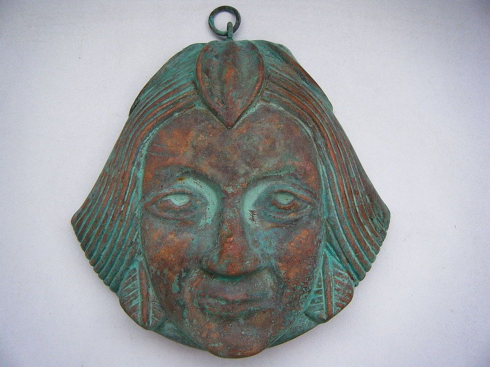 Antique Traditional Tribal Copper Mask Rare, Rare Old
