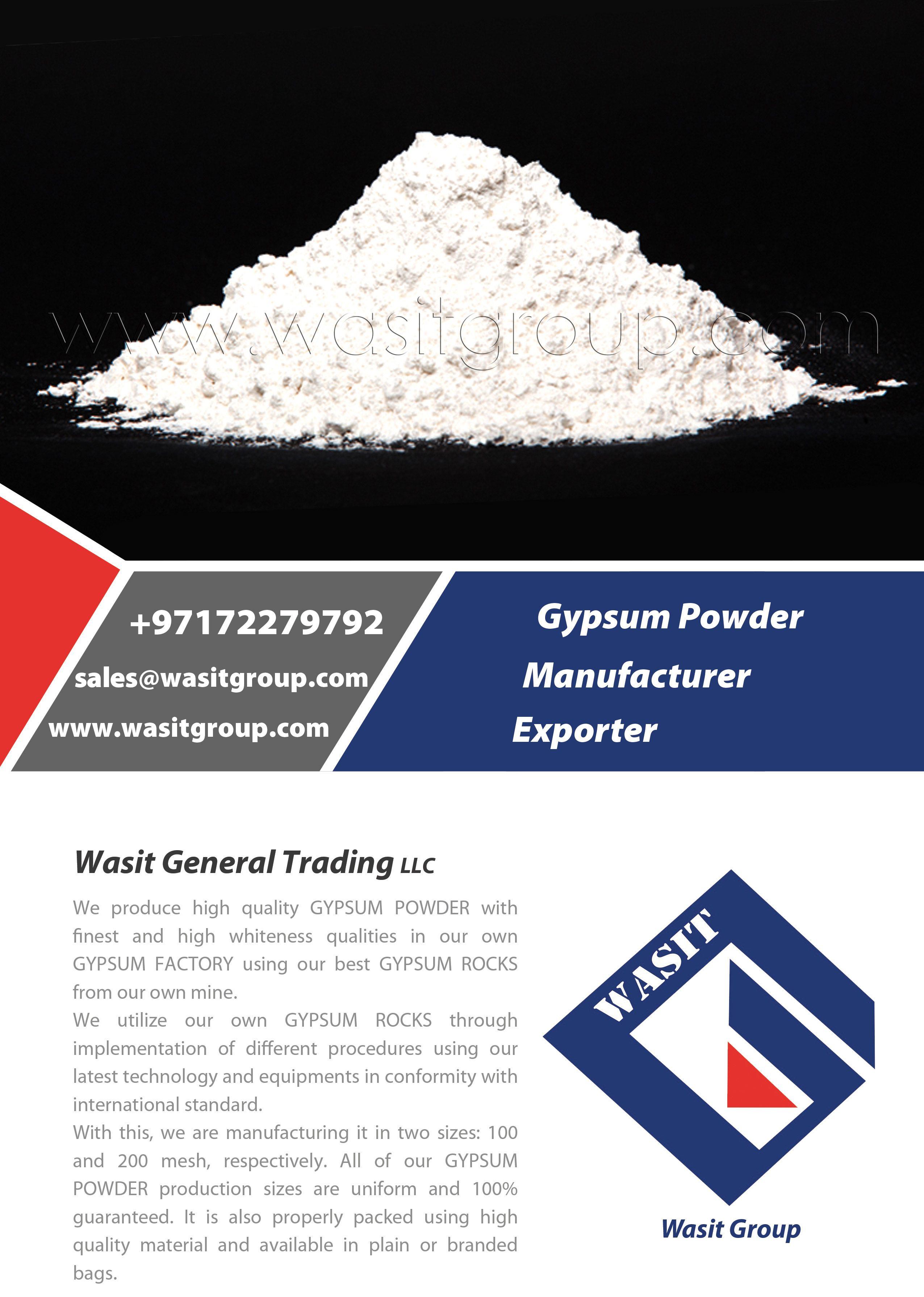 We Produce High Quality Gypsum Powder With Finest And High Whiteness Qualities In Our Own Gypsum Factory Using Our Best Gypsum Gypsum Powder Gypsum Gypsum Rock