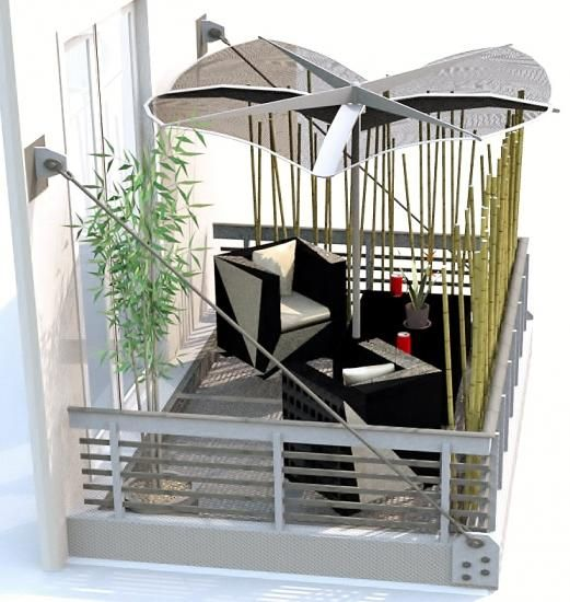 brise vue petit balcon 3d deco balcon pinterest petits balcons brise et balcons. Black Bedroom Furniture Sets. Home Design Ideas