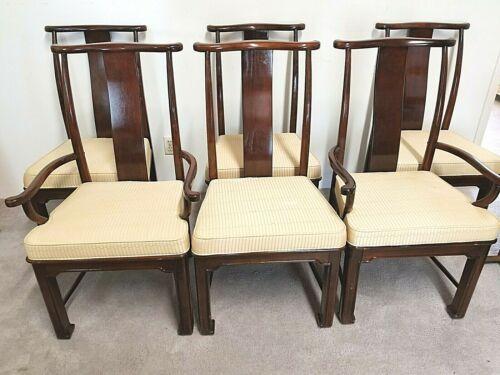 Sensational Details About 6 American Of Martinsville Walnut Asian Gamerscity Chair Design For Home Gamerscityorg