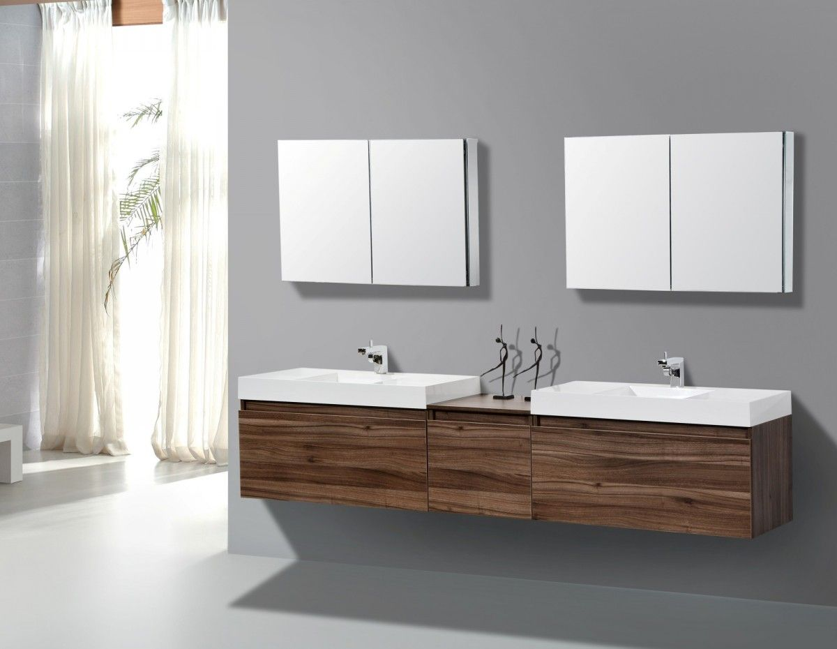 Incroyable Bathroom Cabinets And Vanities Contemporary Plywood Bathroom Cabinets And  Vanities With Contemporary Design Grey Bathroom Wall
