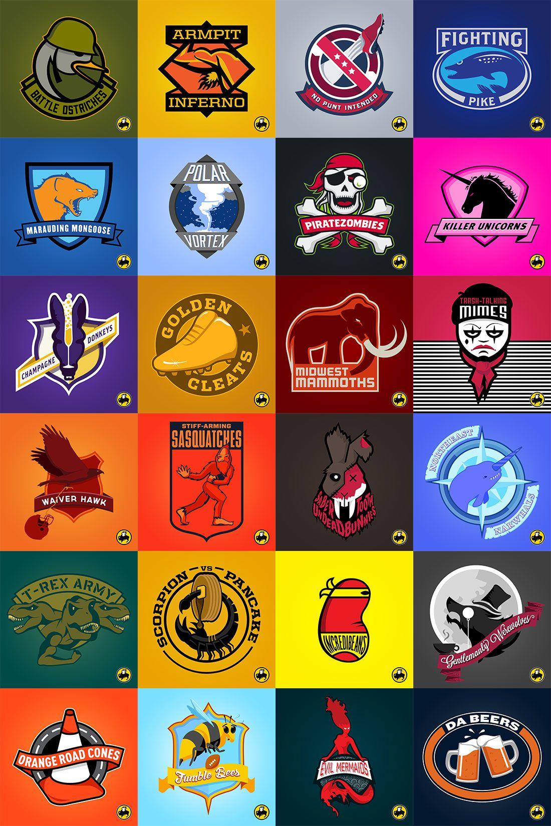 Fantasy Football Logos : fantasy, football, logos, PERISCOPE, Buffalo, Wings, Fantasy, Football, Logos, Logos,, Logo,