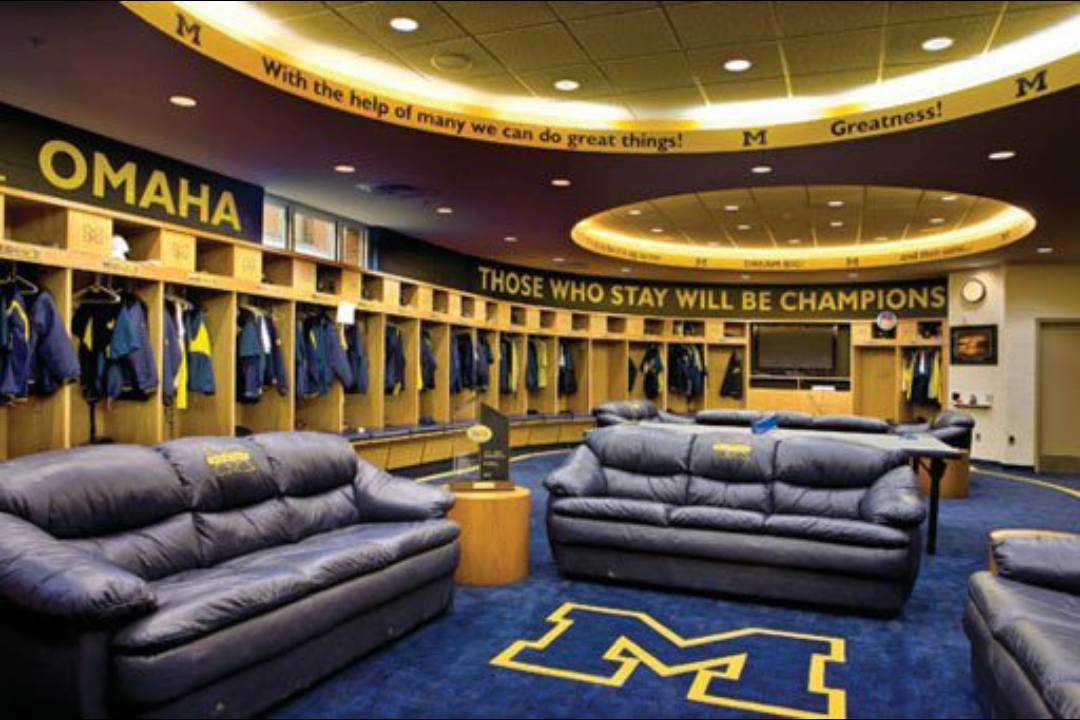 Michigan Baseball Locker Room I Spoke To The Team In There On May 11