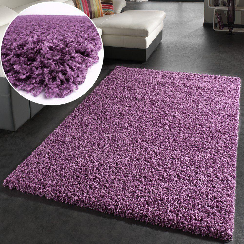 Shaggy Hochflor Langflor Teppich Sky Einfarbig In Lila Grösse Ø 200 Cm Rund Amazon De Küche Haushalt Shaggy Teppich Teppich Florteppich