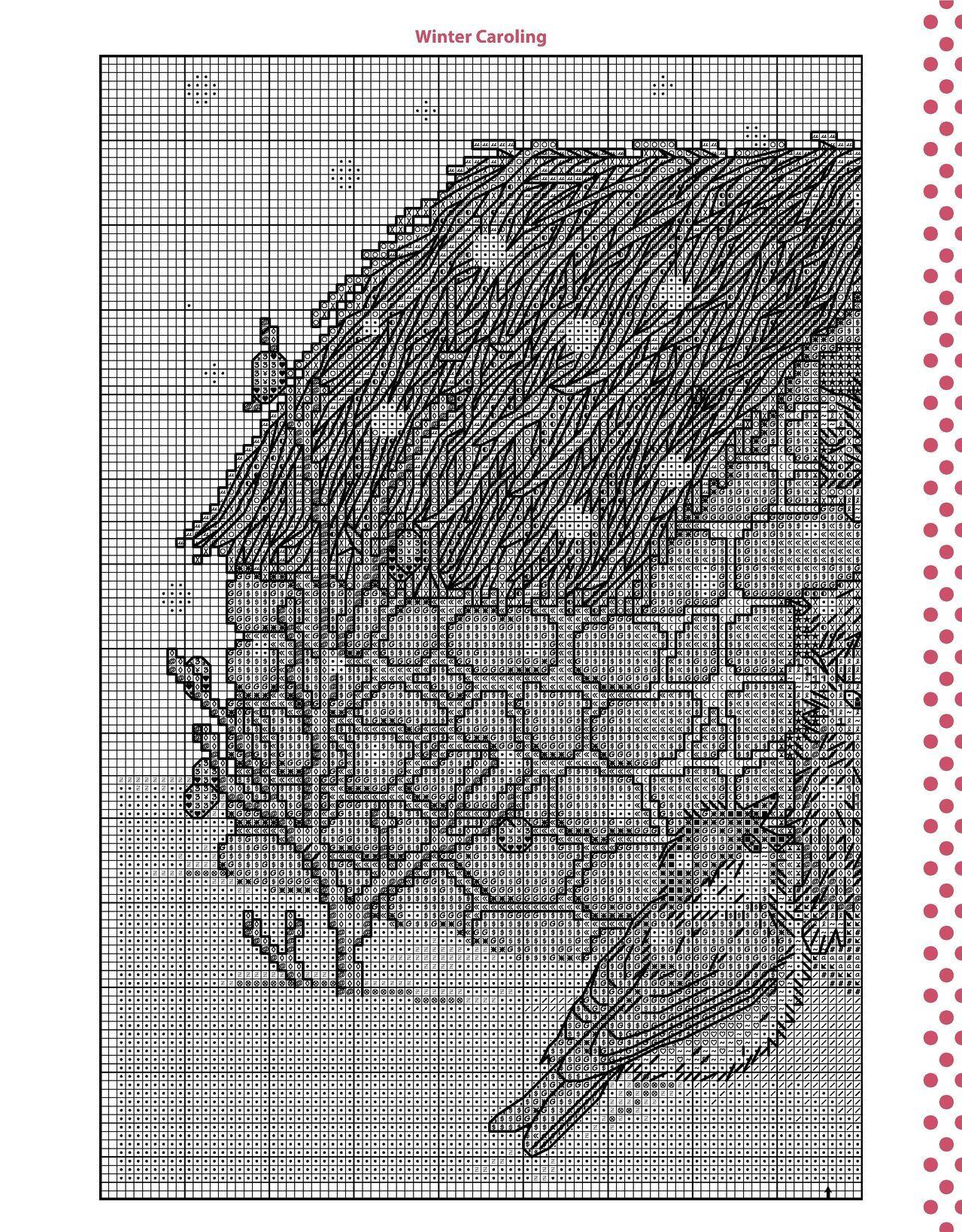 Cross stitch winter caroling part 2 color chart on part 1 cross stitch winter caroling part 2 color chart on part 1 nvjuhfo Choice Image