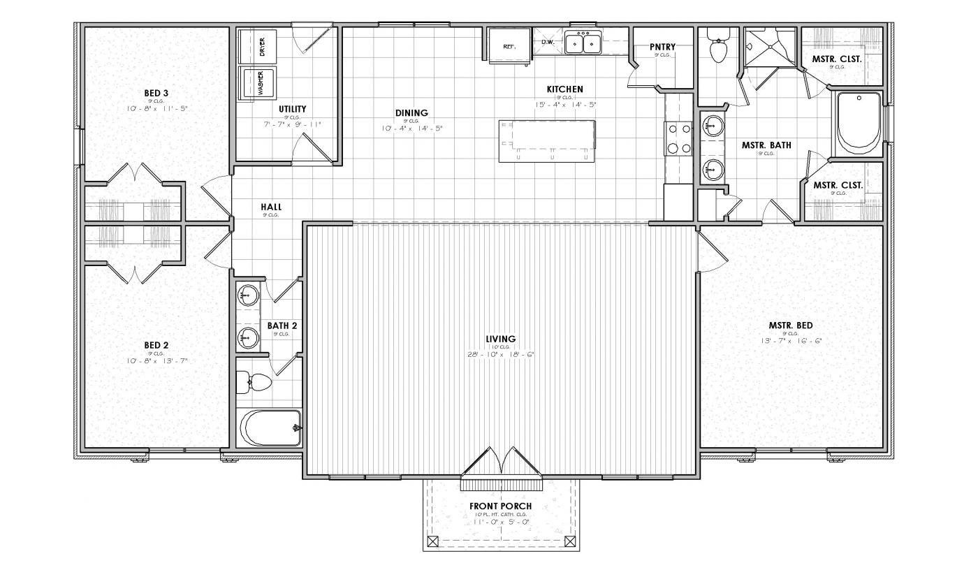 Camellia Lodge Plan Pole Barn House Plans Basement House Plans New House Plans