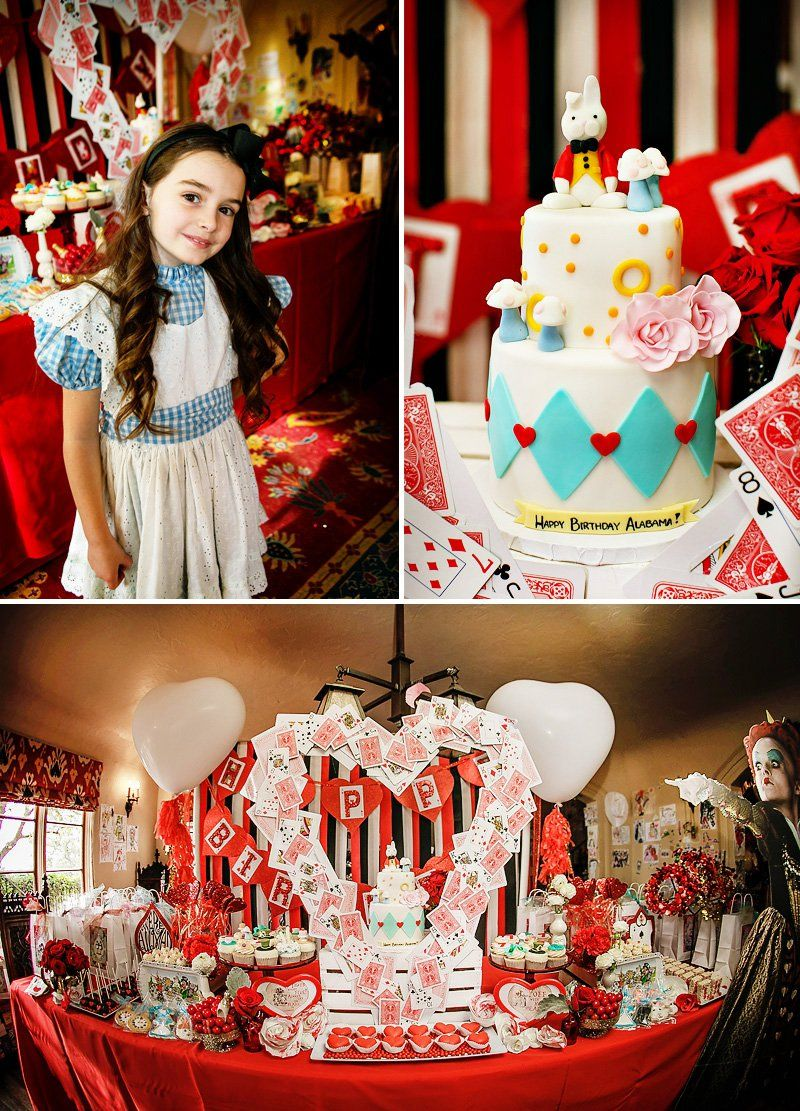 alice in wonderland birthday party ideas Alice