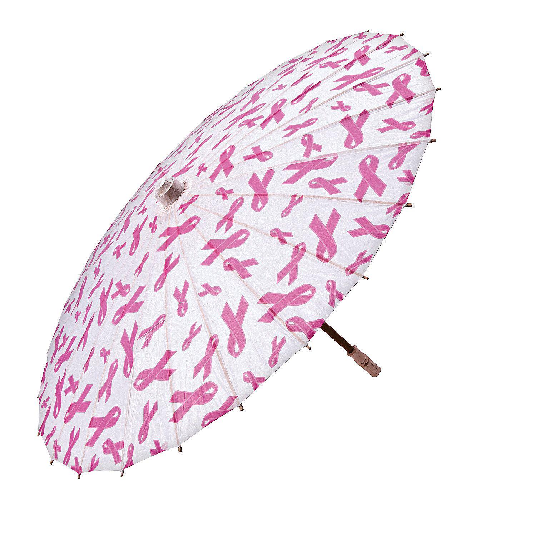 Pink Ribbon Parasol - OrientalTrading.com