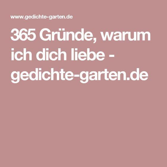 365 Gründe, warum ich dich liebe - gedichte-garten.de | Hobby ...