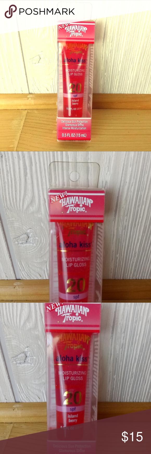 *Rare! Hawaiian Tropic Aloha Kiss Lip Gloss SPF 20 Moist