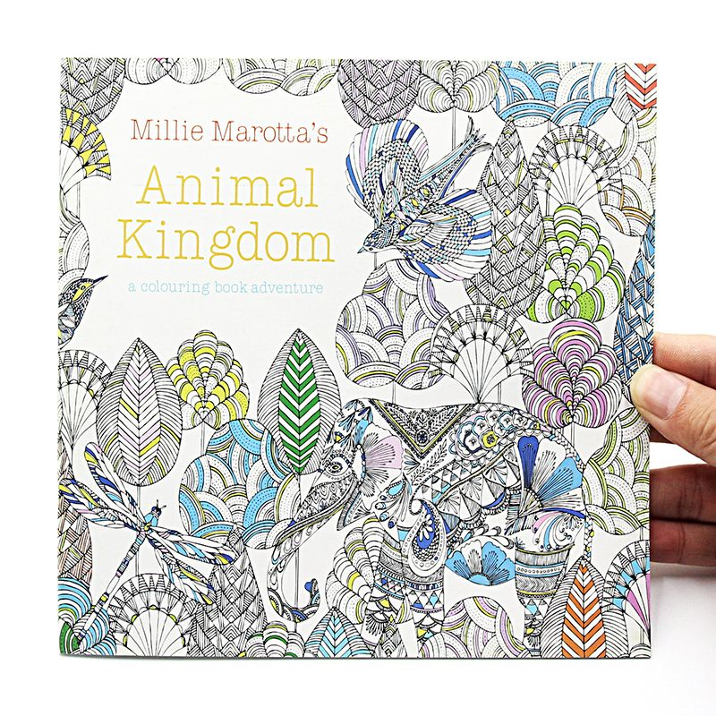 1 PCS 24 Pages Animal Kingdom English Edition Coloring Book For Children Adult Relieve Stress Kill