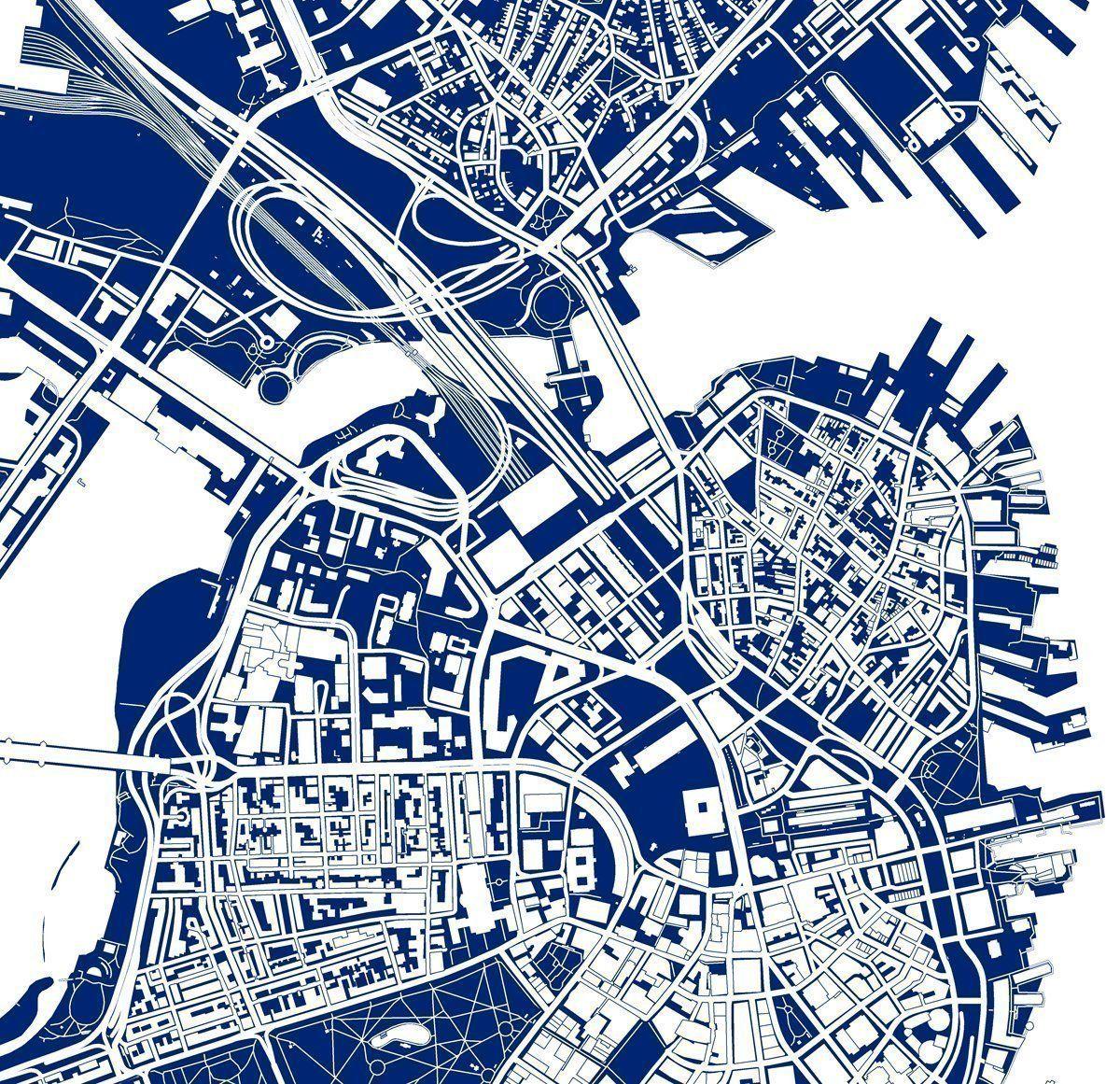 Boston map art print massachusetts navy blue blueprint style city boston map art print massachusetts navy blue blueprint style city artwork malvernweather Choice Image