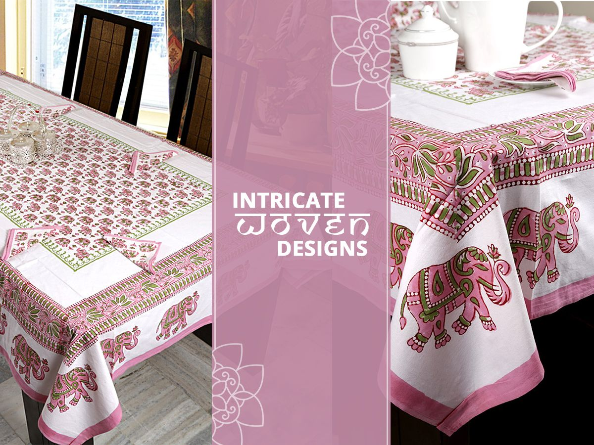 Intricately designed table covers!!
