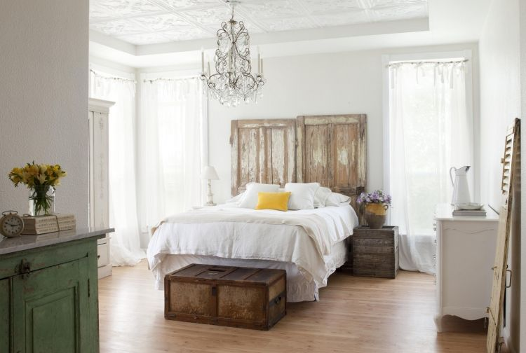 Landhausstil Schlafzimmer in Weiß \u2013 50 Gestaltungsideen Pinterest - Schlafzimmer Landhausstil Weiß