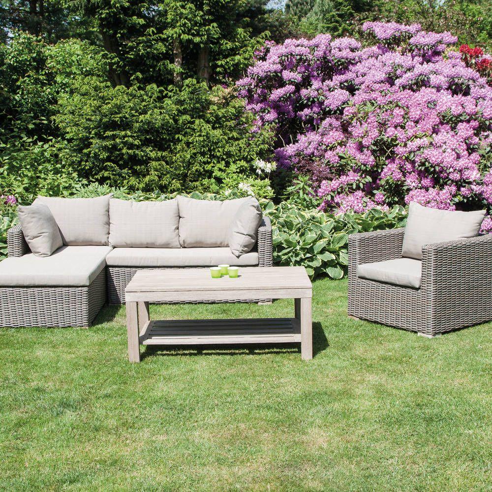 We Love Our Garden Rustikale Esszimmer Lounge Sessel Kaffeetisch