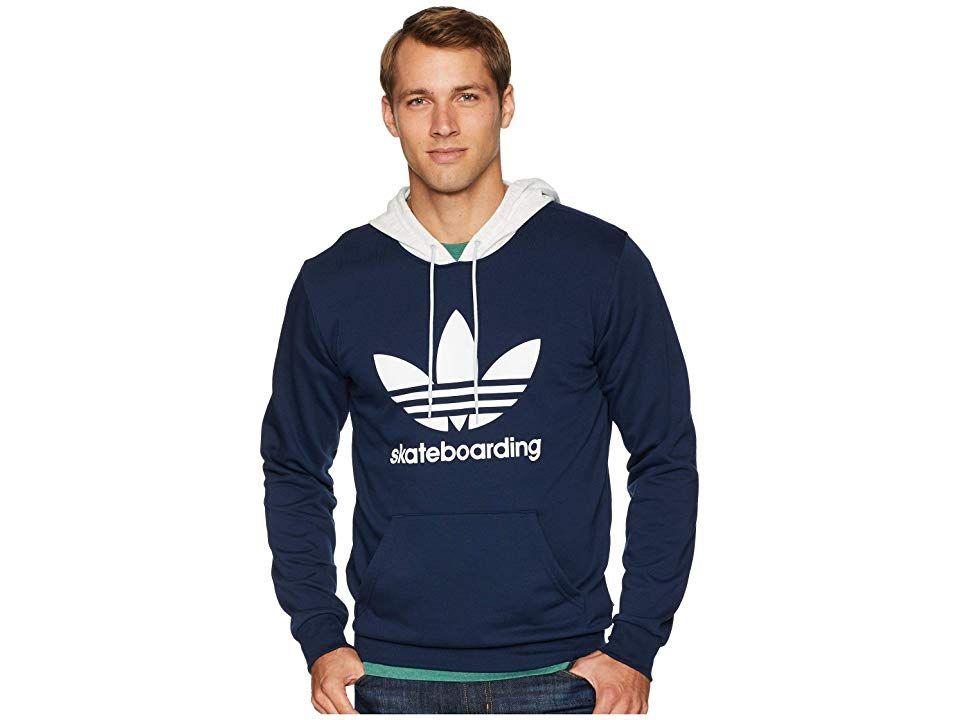 624175b1d49 adidas Skateboarding Clima 3.0 Hoodie (Collegiate Navy/Pale Melange/White)  Men's Sweatshirt